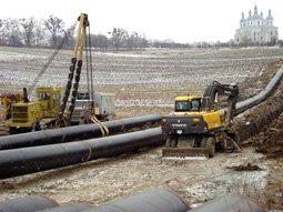 Переукладка водопровода Плугов-Золочев